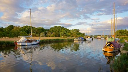 Boats at Horsey Mere. IMAGE: Christopher Hill