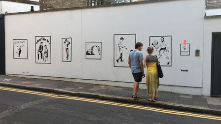 The new 'gallery' in Cross Street, which now features seven of Bambi's works.