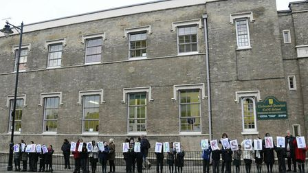Clerkenwell Parochial School, pictured in 2011 during a protest against road users ignoring their ze