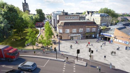 An artist's impression of the finalised plans to overhaul Highbury Corner. Picture: TfL