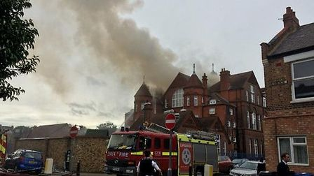 Fire rips through roof at St Joseph's RC Primary School Pic credit: Hannah McGrath