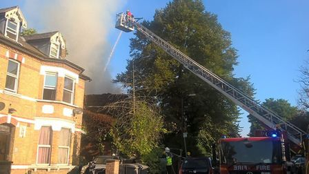 Willesden house gutted by fire (Picture: @LFB)