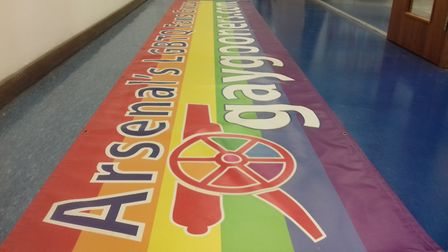 The Gay Gooners banner at the Islington's Pride archive. Picture: Islington's Pride at Islington's M
