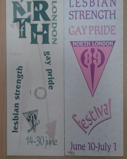 A North London Gay Strength and Lesbian Pride Festival event programmes from the Islington's Pride