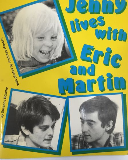 A copy of Jenny lives with Eric and Martin for the Islington's Pride archive. Picture: Islington's P