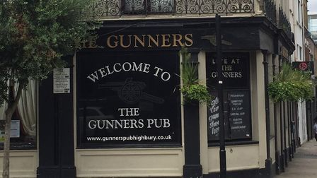 The Gunners Pub in Blackstock Road. Pictures: Lucas Cumiskey
