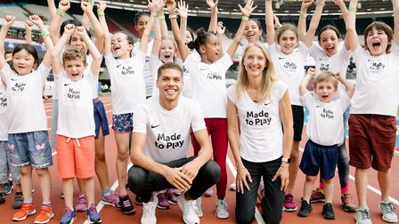 Brent primary school children were invited to attend the M�ller Anniversary Games