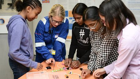 Pupils learn more about electricity and energy efficiency at Dungeness B power station (Picture: Sar