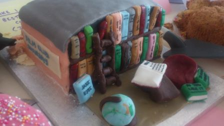 A Library Cake entered at the Bake Off competition at Preston Community Library's fun day 2017 (Pic