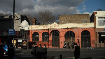 The entrance to the old Highbury Station, on the Great Northern and City Railway - now the Northern
