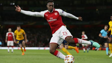 Danny Welbeck of Arsenal in the UEFA Europa League game between Arsenal v Atlético Madrid at the Emi