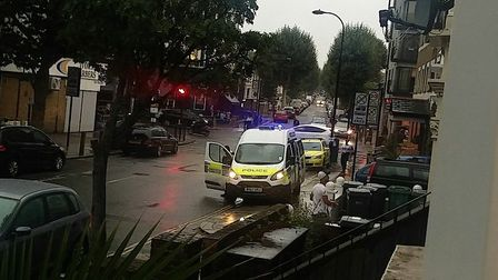 Police and paramedics in KIlburn High Road (Pic: @londonfrench