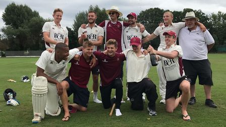 North Middlesex's second-team celebrate the title