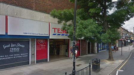 The man was stabbed in Stroud Green Road, near Tesco Metro. Picture: Google Earth