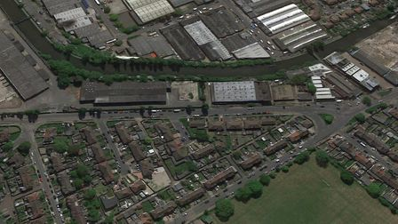 Beresford Road, Alperton, with the Afrex House plot to the left and the Kuntals wholesaler site to t
