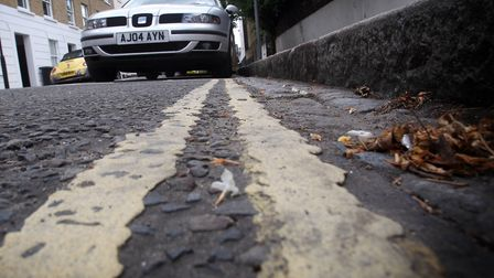 There are unnecessary double yellow lines and dropped kerbs in the area. Picture: PA
