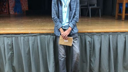 Preston Manor Sixth Form student Preet Patel collecting his A-level results. Photo by Preston Manor