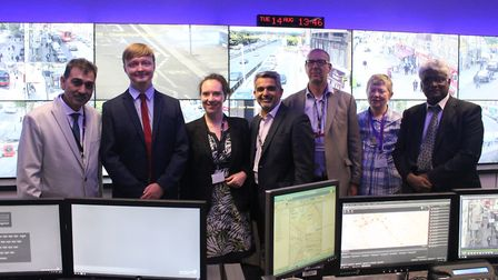 Brent's new digital CCTV room. Picture: Brent Council