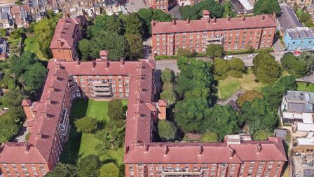 Work to replace all the front doors on the Blackstock Estate has been paused. Picture: Google Maps