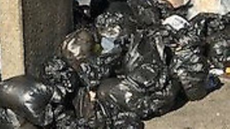 Residents in the selected area must use red bin bags and put out rubbish between 7pm and 7am. Pictur