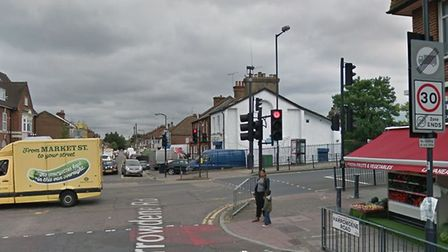 A woman was knocked over by a bus in North Wembley (Picture: Google)