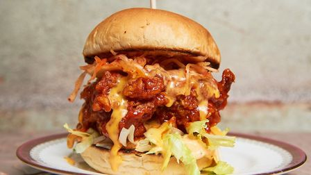 You'll also be able to get firmly stuck in to towering burgers like this. IMAGE: THOMAS BOWLES
