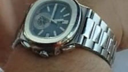 Image of the Patek Philippe watch stolen from a man in Kilburn by armed thieves (Picture: Met Police