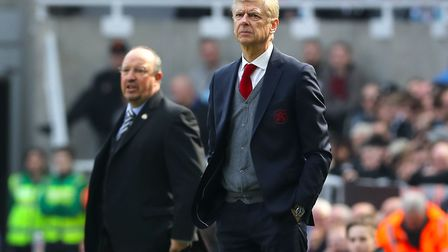 Former Arsenal manager Arsene Wenger during the Premier League match at St James' Park, Newcastle.