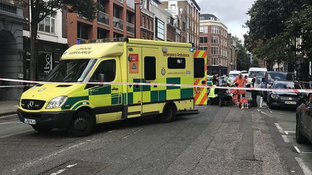 Cyclist in critical condition crash in St John Street. Picture: Trent Murray
