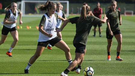Arsenal Women gear up for the start of the FA Women's National League with an open training session