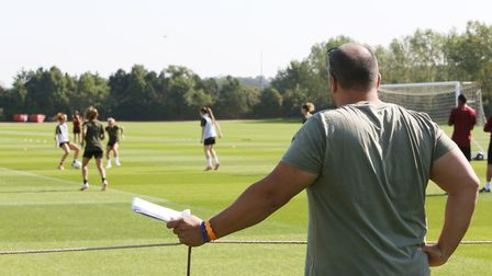 Layth Yousif watches on as Arsenal Women gear up for the start of the FA Women's National League wit