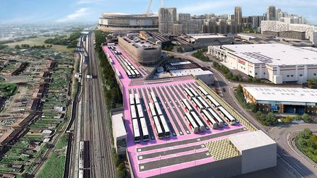How the Wembley coach complex will look (Picture: Quintain)