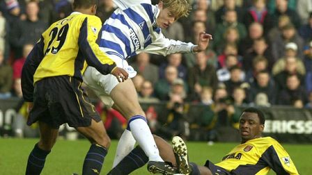 Peter Crouch in action for Queens Park Rangers earlier in his career (pic: Kirsty Wigglesworth/PA)