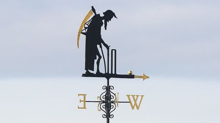 The Lord's weather vane Father Time (pic Gavin Ellis/TGS Photo)