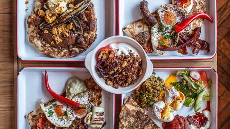Colourful, creative brunch plates from Islington's BabaBoom. IMAGE: BABABOOM