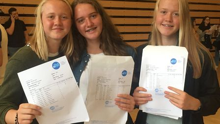 Beth, Zoe and Abbie Lambert achieved 22 top grades between them in their GCSEs for St Mary Magdalen