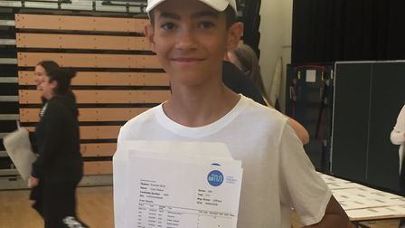 Luca Mason got great GCSE results at St Mary Magdalene Academy. Picture: Lucas Cumiskey