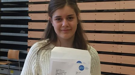 Emma Aart got straight 9s in her GCSE results at St Mary Magdalene Academy. Picture: Lucas Cumiskey