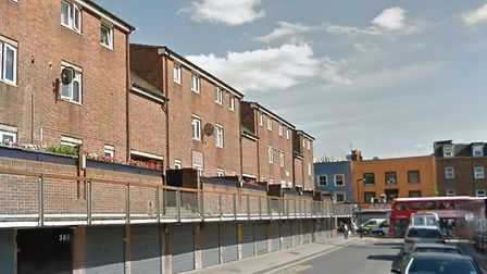 Corker Walk, where the fire broke out in one of the flats. Picture: Google street view