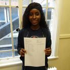 Convent of Jesus and Mary Language College student Stella Lienu-Mpakam collecting her GCSE results.