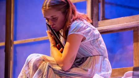 Rafaella Hutchinson in The Rise and Fall of Little Voice at Park Theatre. Photo by Ali Wright