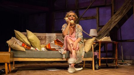 Sally George in The Rise and Fall of Little Voice at Park Theatre. Photo by Ali Wright