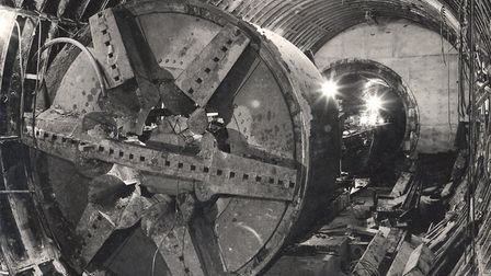 Workers tunnelling the Victoria Line. Picture: TfL