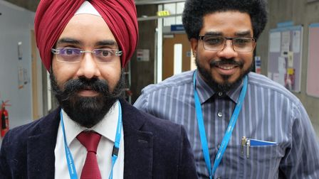 Cardiologist Harmandeep Singh and senior cardiac nurse Gary LaTouche have set up what is believed to
