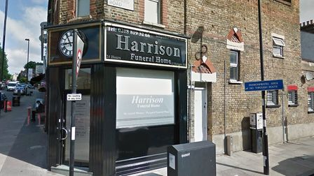 Harrison Funeral Home on the corner of Highgate Hill and Despard Road. Picture: Google StreetView