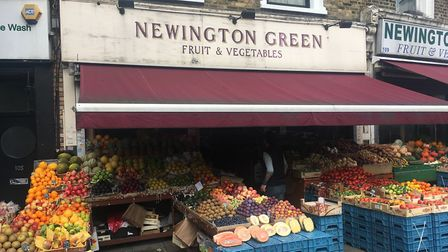 The Newington Green Fruit and Veg store. Picture: Lucas Cumiskey