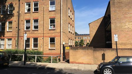 Bishops Close, Tufnell Park, where Tim Craig is living in a flood damaged flat. Picture: Lucas Cumis