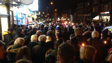 A candlelit vigil was held for Vijay Patel in Mill Hill (Picture: @MPSBarnet)