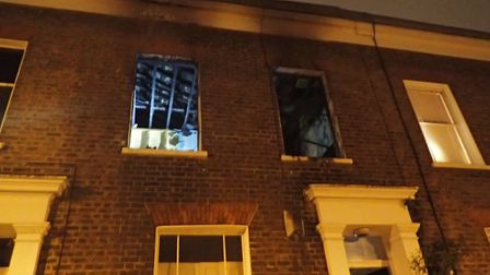 The fire in Mitchison Road was caused by a candle setting fire to a bed. Picture: London Fire Brigad