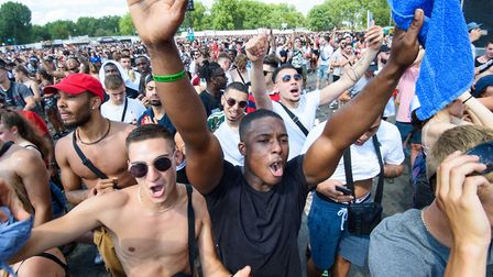 Festivalgoers at Wireless this year. Picture: PA